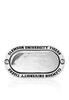 Wilton Armetale Clemson Tigers Large Oval Tray