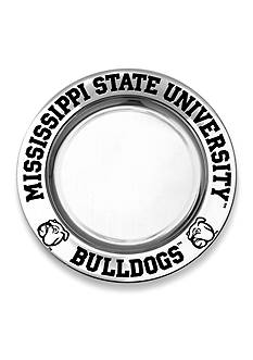 Wilton Armetale Mississippi State Bulldogs Small Round Tray