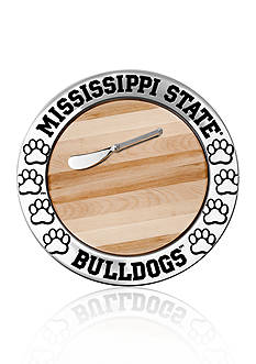 Wilton Armetale Mississippi State Bulldogs Small Round Cheese Board