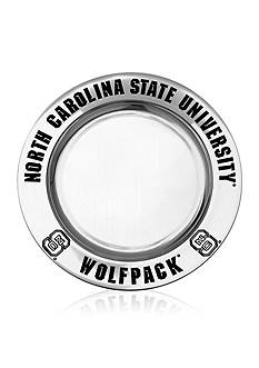 Wilton Armetale NC State Wolfpack Small Round Tray