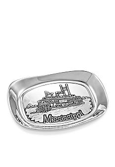 Wilton Armetale State of Mississippi Bread Tray