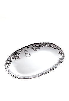 Wilton Armetale Monogram Oval Trays