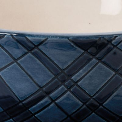 Casual Dinnerware Collection: Blue Fitz and Floyd BRISTOL TARTAN CUP/SAUCER