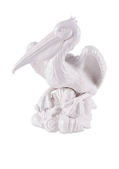 Fitz and Floyd Cape Coral Pelican Figurine