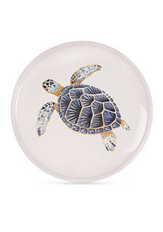 Fitz and Floyd Cape Coral Turtle Accent Plate