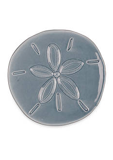 Fitz and Floyd Cape Coral Home Sand Dollar Snack Plate