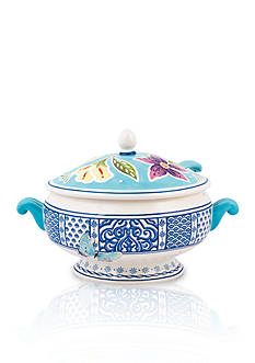 Fitz and Floyd Courtyard Tureen with Ladle, 2-qt. - Online Only