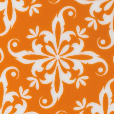 Apartment Living: Dining: Orange Fitz and Floyd Color Soft Square Salad Plate, Orange