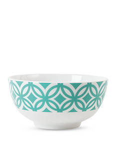 Fitz and Floyd Color Graphic Appetizer Bowl, Blue