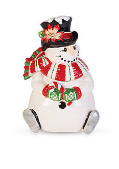 Fitz and Floyd Top Hat Frosty Lidded Box