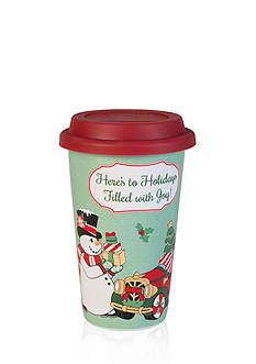 Fitz and Floyd Top Hat Frosty Travel Mug