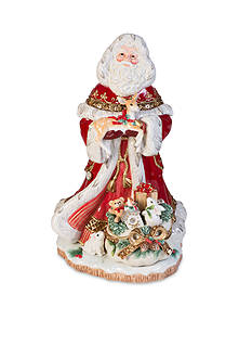 Fitz and Floyd Yuletide Holiday Collection Santa Figurine