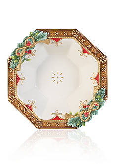 Fitz and Floyd Yuletide Holiday Serving Bowl