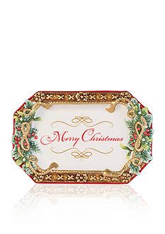 Fitz and Floyd Yuletide Holiday Appetizer Tray