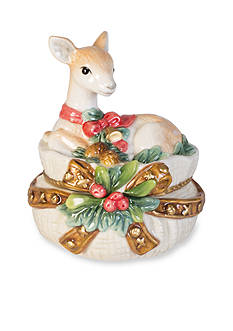 Fitz and Floyd Yuletide Holiday Salt and Pepper Set