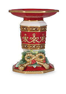Fitz and Floyd Yuletide Holiday Collection Pillar Candle Holder