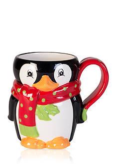 Fitz and Floyd Merry Penguin Mug