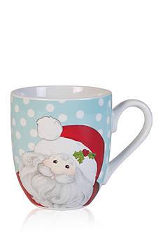 Fitz and Floyd Holiday Hoot set of 2 Coffee/Cake Mugs