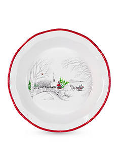 Fitz and Floyd Vintage Holiday Pie Plate