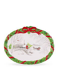 Fitz and Floyd Vintage Holiday Cookie Platter