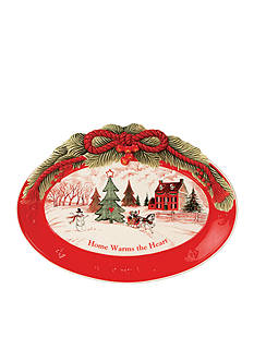 Fitz and Floyd 'Home Warms the Heart' Sentiment Tray