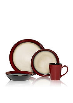 Pfaltzgraff Aria Red 16-Piece Dinnerware Set