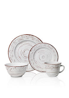 Pfaltzgraff Trellis White 16-Piece Dinnerware Set