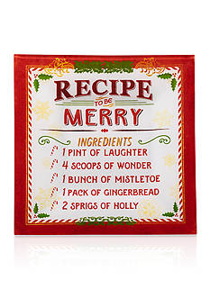 Pfaltzgraff Recipe for Merry Large Square Platter