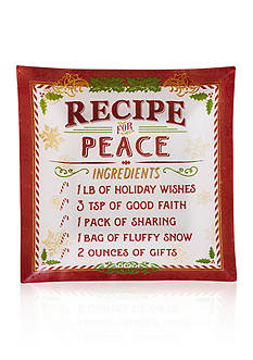 Pfaltzgraff Recipe for Peace Small Square Platter