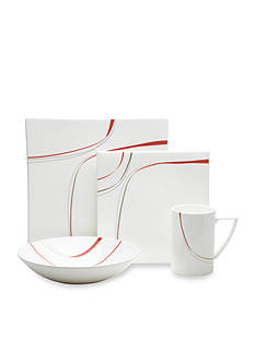 Mikasa Modernist Red 4-Piece Place Setting