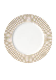 Mikasa Crisscross Tan Round Platter