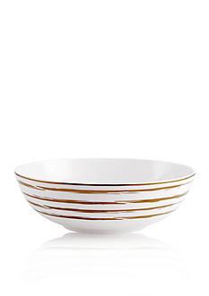 Mikasa Swirl Gold Rim Soup Bowl