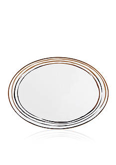 Mikasa Swirl Gold Oval Platter