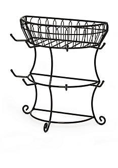 Mikasa Gourmet Basics Mug Tree with Basket