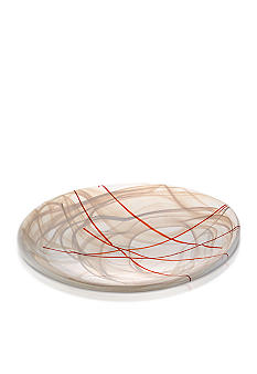 Kosta Boda Contrast Dish White with Red