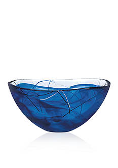 Kosta Boda Blue Bowl H: 6.625-in. W: 13.75-in.