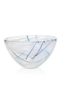 Kosta Boda White Contrast Medium Bowl