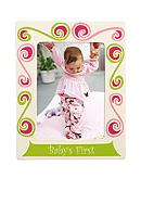 Gorham Merry-Go-Round Little Girl with a Curl 5x7 Baby's First Frame