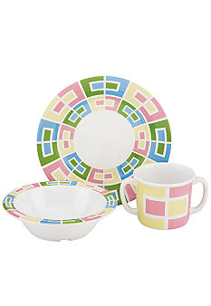 Gorham Merry-Go-Round Pitter Patter 3-Piece Melamine Set