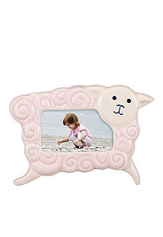 Gorham Merry-Go-Round Little Girl with a Curl Pink Sheep 2x3 Frame
