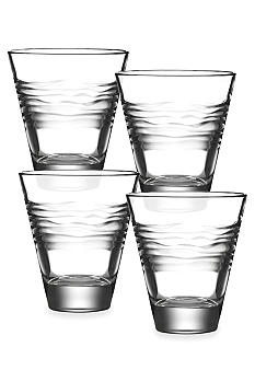 Kathy Ireland Kahala Set of 4 Double Old Fashioned Glasses