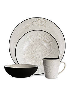 Noritake Colorwave Bloom Graphite 4-Piece Place Setting