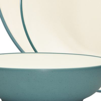 Noritake For The Home Sale: Colorwavet Noritake Colorwave Turquoise Rim 4-Piece Place Setting