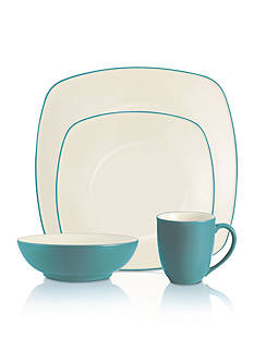 Noritake Colorwave Turquoise Square 4-Piece Place Setting