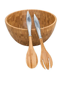 Reed & Barton Bamboo Garden Salad Bowl and Server Set