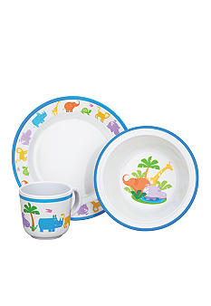 Reed & Barton Jungle Parade 3 Piece Melamine Dinnerware Set