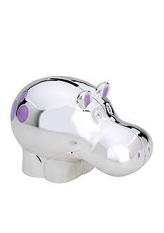 Reed & Barton Jungle Parade Hippo Coin Bank