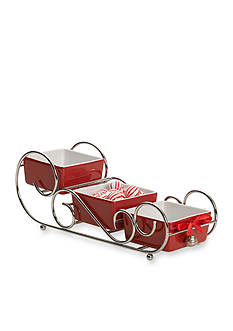 Towle Snack and Dip 3-Tier Sleigh Server