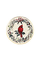 Winter Greetings Fine Cardinal Accent Plate