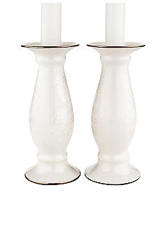 Lenox Opal Innocence Wedding Candle Pair